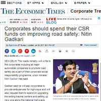 CSR funds should be spent to improve road safety